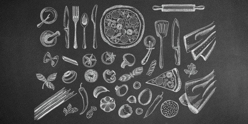 Hand Drawn Food Illustrations