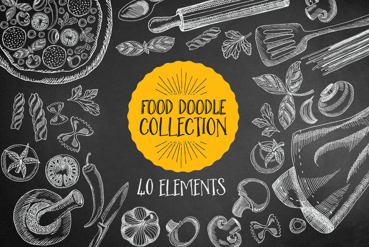 Hand Drawn Food Illustrations