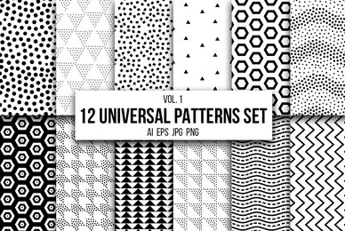 12 Universal Patterns Set Vol  1