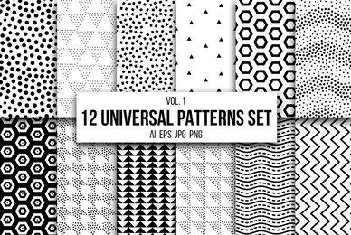 12 Universal Patterns Set Vol  1