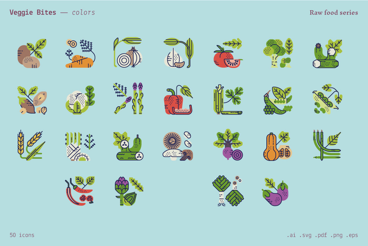 Veggie Bites    Food Icons
