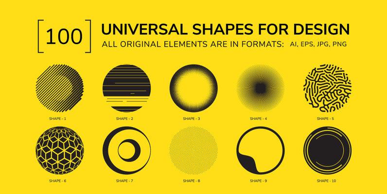 100 Geometric Shapes Part 4