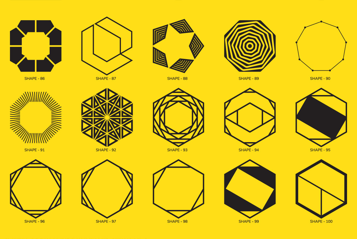 100 Geometric Shapes Part 4