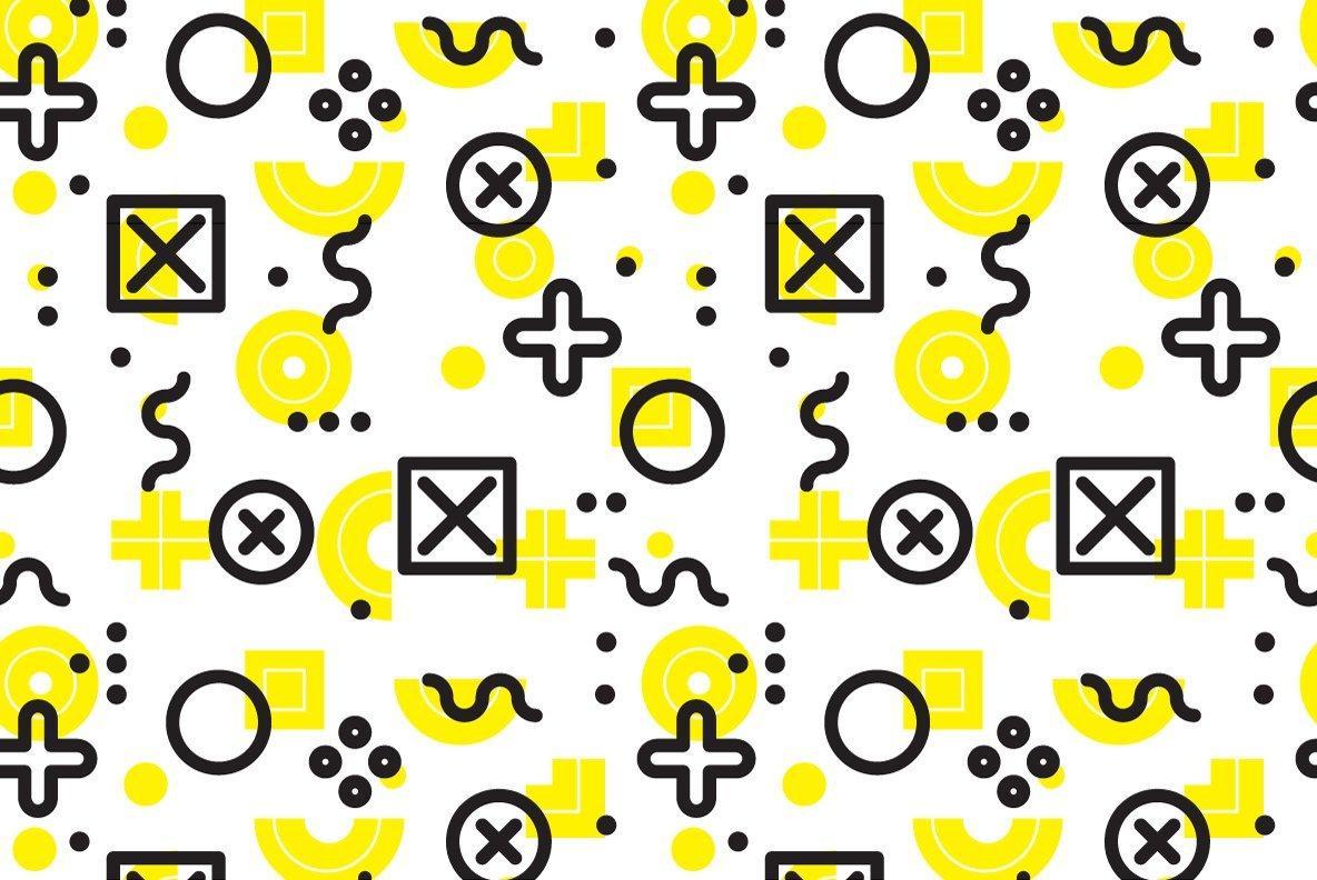 25 Geometric Seamless Patterns