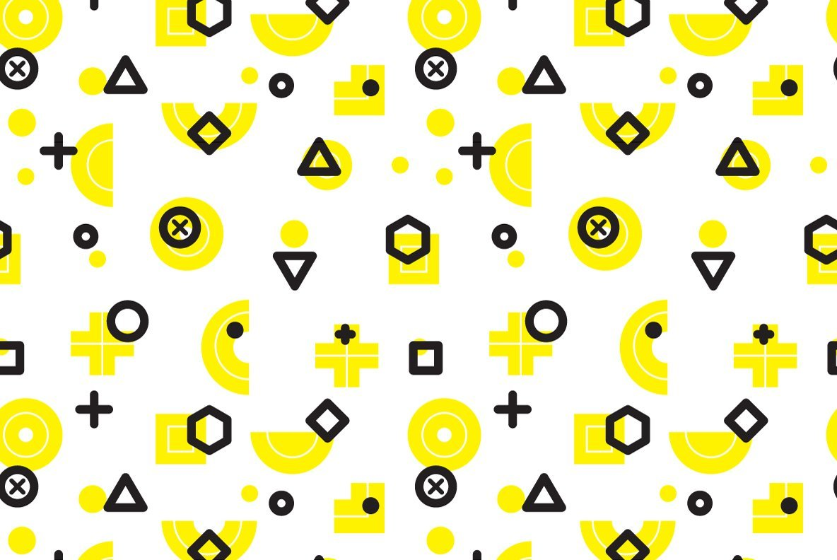 25 Geometric Seamless Patterns