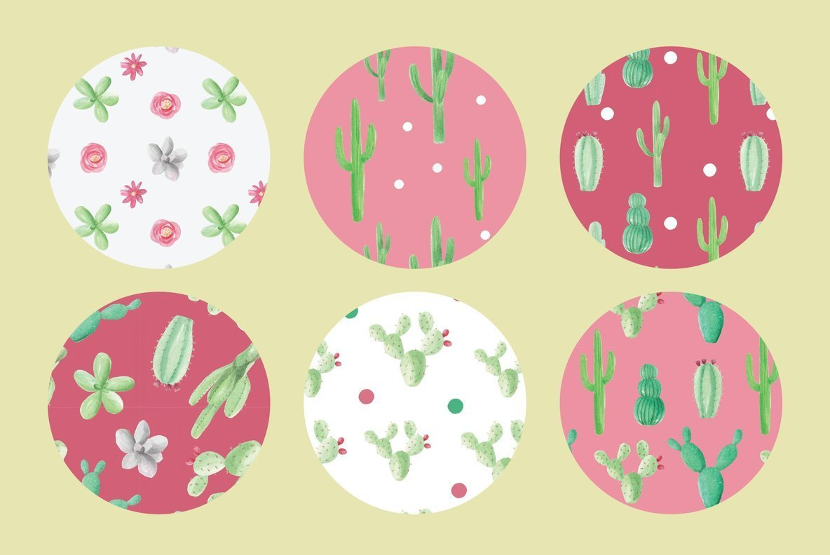 Cactus Cacti Wedding Watercolor Package