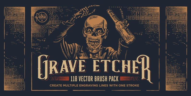 Grave Etcher | Vector Engraving Brushes