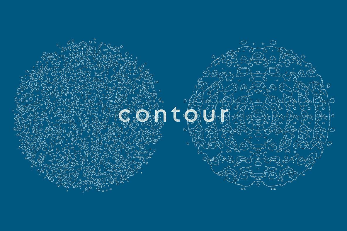 Contour Abstract Cartography