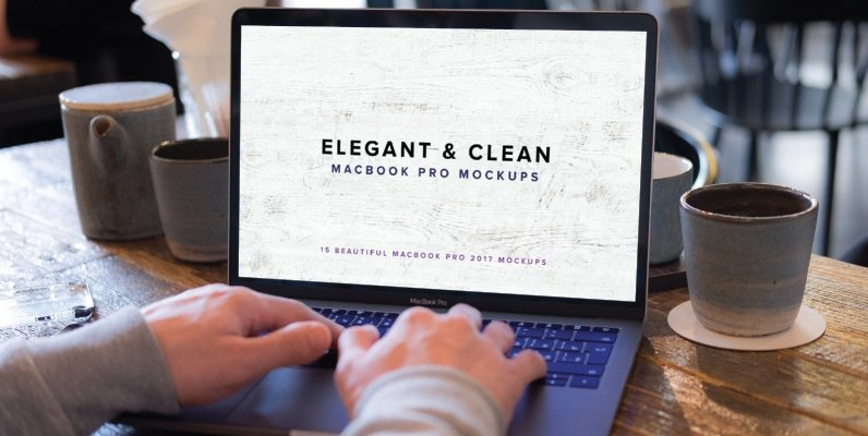 Elegant   Clean Macbook Pro Mockups