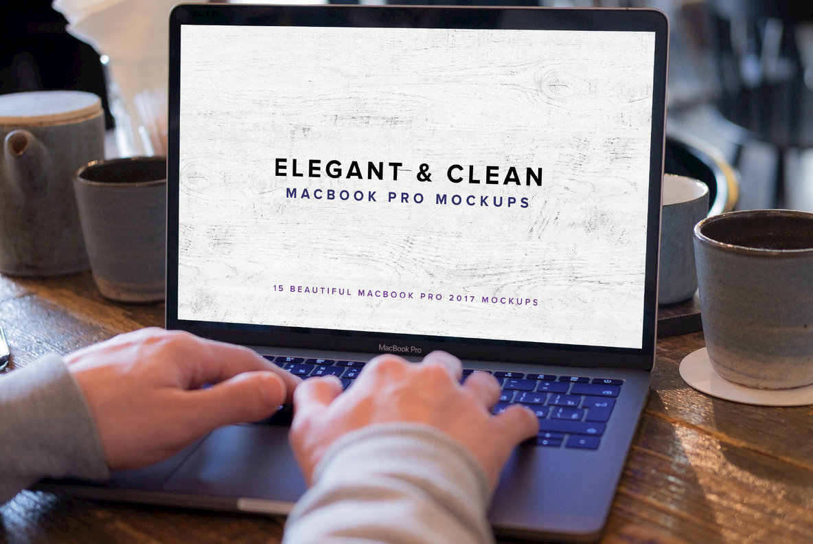 Elegant   Clean Macbook Pro Mockups