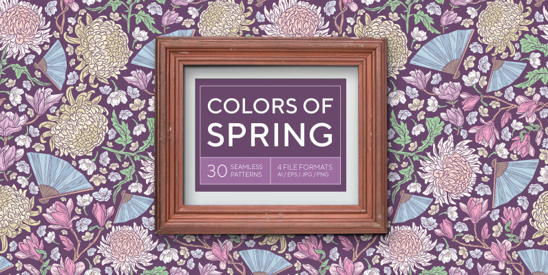 Colors of Spring patterns