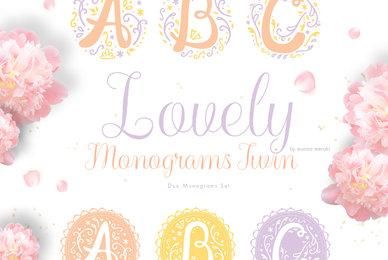 Lovely Monogram Twins