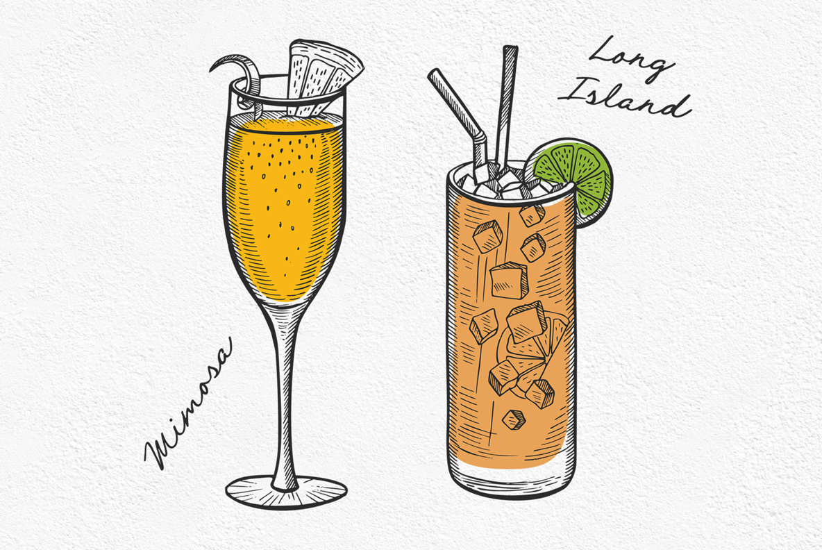 Alcohol Cocktail Illustrations