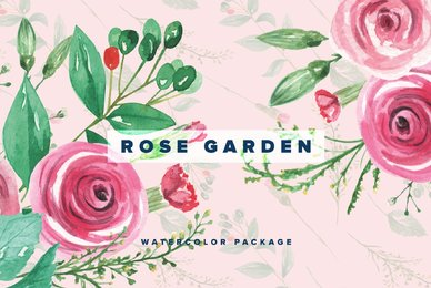 Rose Garden Watercolor Package