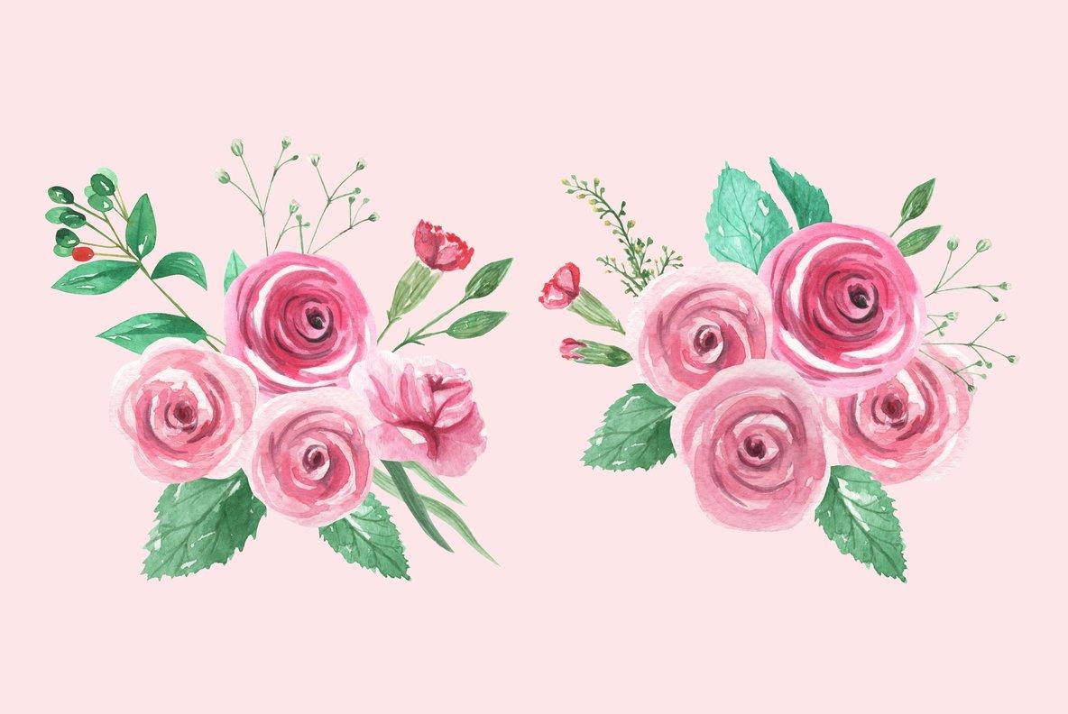 Rose Garden Watercolor Package