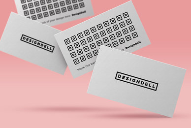 Floating Business Card Mockup