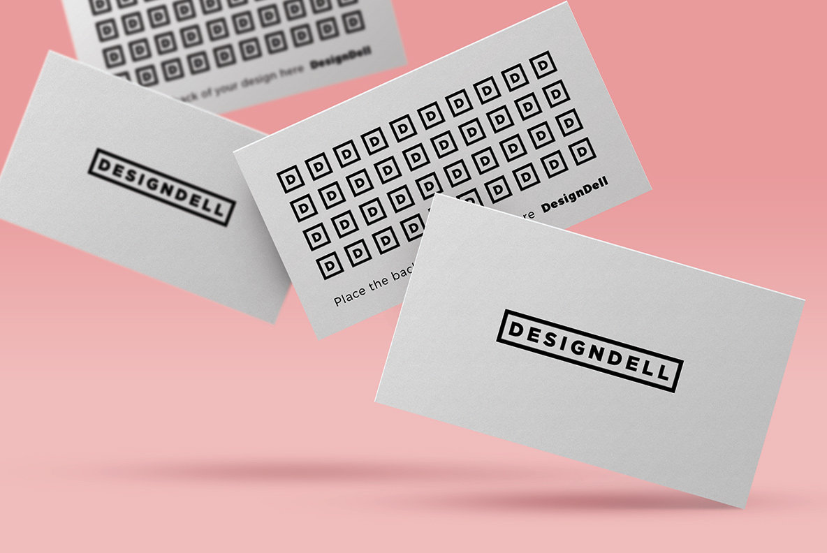 Floating Business Card Mockup Graphics Youworkforthem