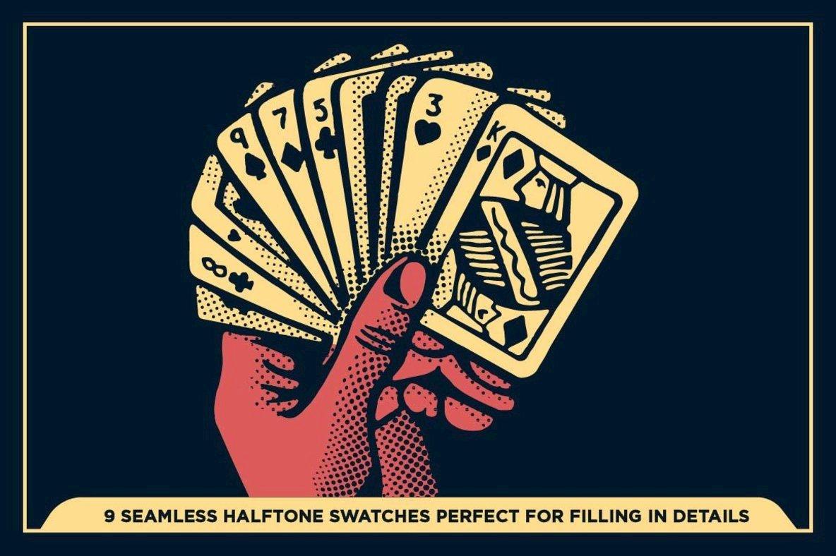Black Magic Halftones   Vector Halftone Pattern Brushes