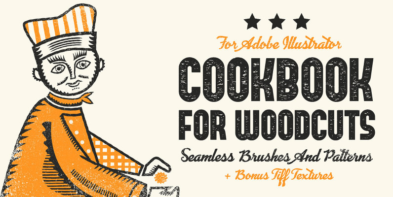 Cookbook for Woodcuts - Adobe Illustrator Brushes