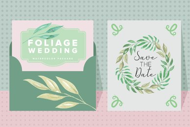Foliage Wedding Watercolor Package