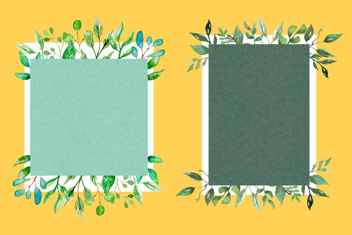 Bloomella Frames Watercolor Package