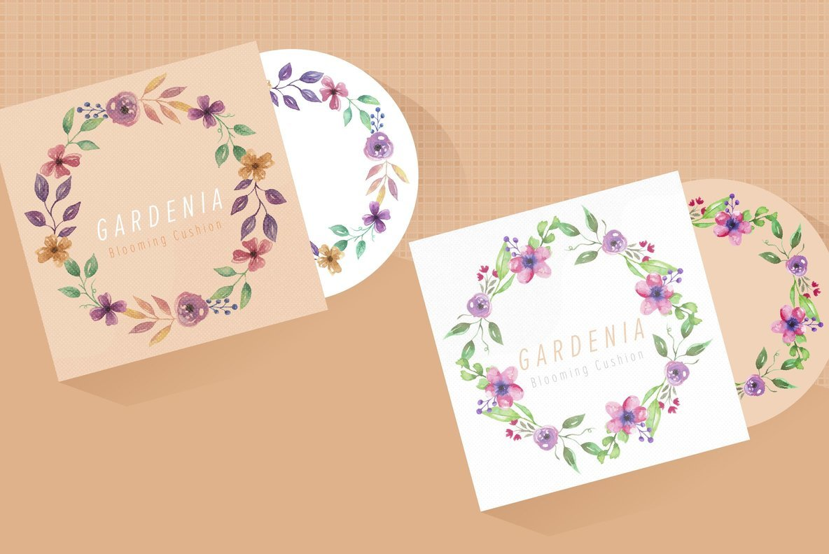 Bloomella Wreath Watercolor Package