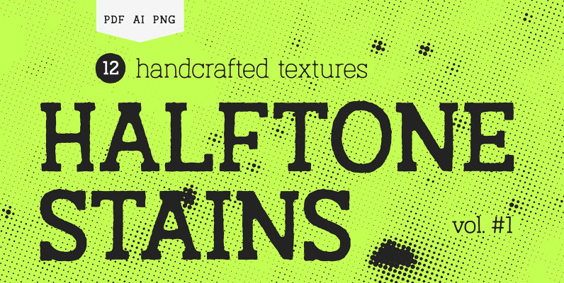 Halftone Stains Vol 1 Texture Pack