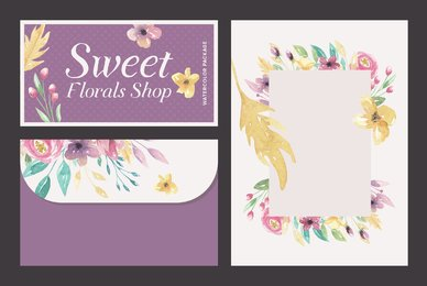 Sweet Florals Shop Watercolor Package