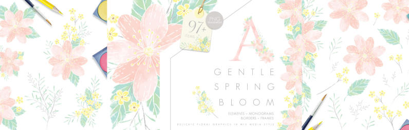 Gentle Spring Bloom   MONOGRAMS