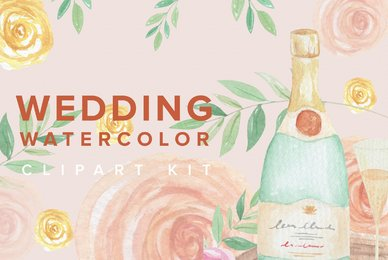 Wedding Watercolor Clipart Kit