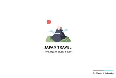 Japan Travel Premium Icon Pack