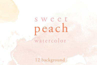 Sweet Peach Watercolor