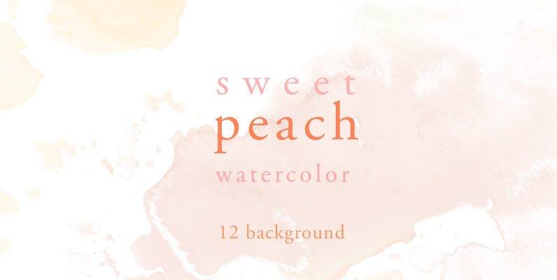 Sweet Peach Watercolor