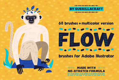 Flow Brushes for Adobe Illustrator
