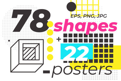 78 Geometric Shapes 22 Posters