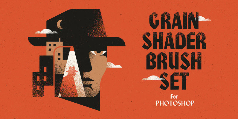 Grain Shader Brushes For Photoshop