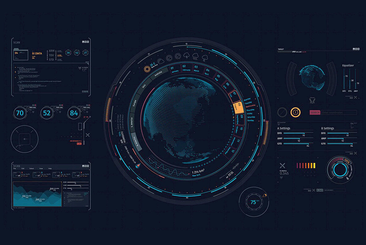 Futuristic Hud Interface UI XT1