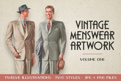 Vintage Menswear Artwork Vol  1