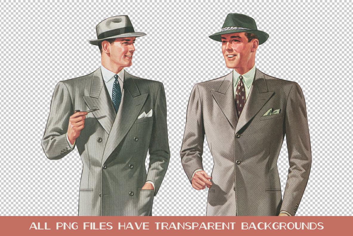 Vintage Menswear Artwork Vol  1