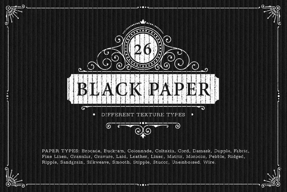 26 Black Paper Background Textures