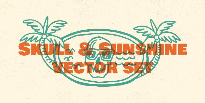 Skull   Sunshine Vector Set