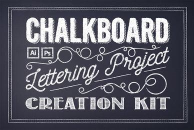 Chalkboard Lettering Project Creation Kit