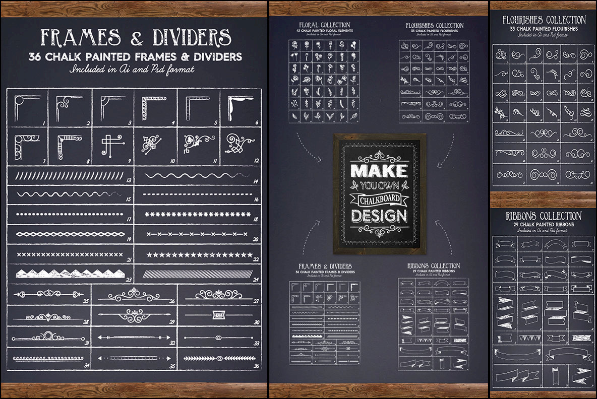 Chalkboard Lettering Project Creation Kit