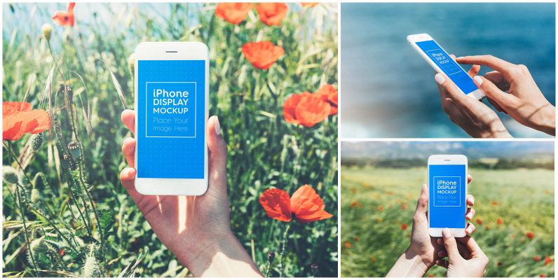 iPhone   Smartphone Outdoor Mockups