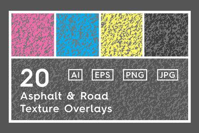 20 Asphalt  Road Texture Overlays