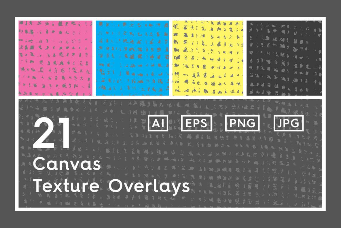 21 Canvas Texture Overlays