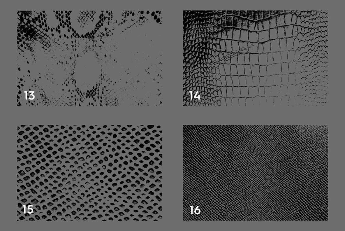 20 Snake Leather Texture Overlays