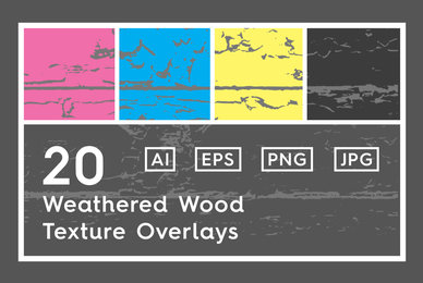 20 Weathered Wood Texture Overlays