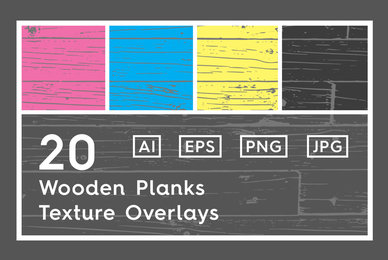 20 Wooden Planks Texture Overlays