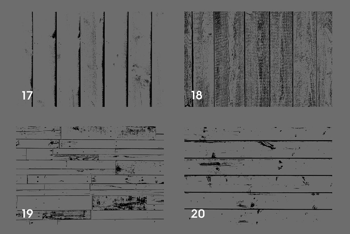 20 Wooden Planks Texture Overlays